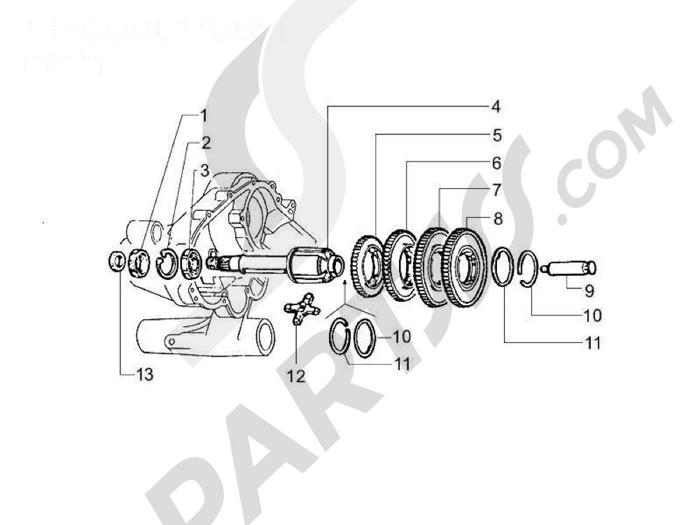 Transmisión trasera Vespa Vespa PX 125 2011-2016