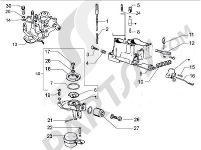Sezionamenti di ricambi Vespa Vespa PX 150 2011-2016