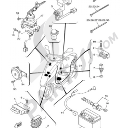 electric equipment 1 yamaha vity 125 2009 rh partsss com yamaha cygnus 125 wiring diagram yamaha majesty 125 wiring diagram [ 1000 x 1380 Pixel ]