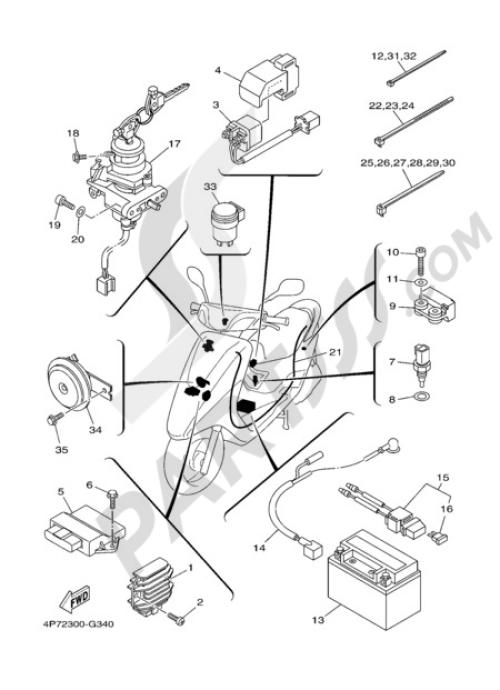 small resolution of electric equipment 1 yamaha vity 125 2009 rh partsss com yamaha cygnus 125 wiring diagram yamaha majesty 125 wiring diagram