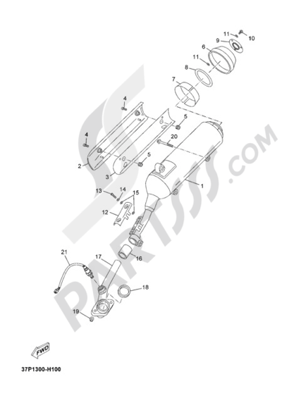 Yamaha X-Max 250 2010 Dissassembly sheet. Purchase genuine