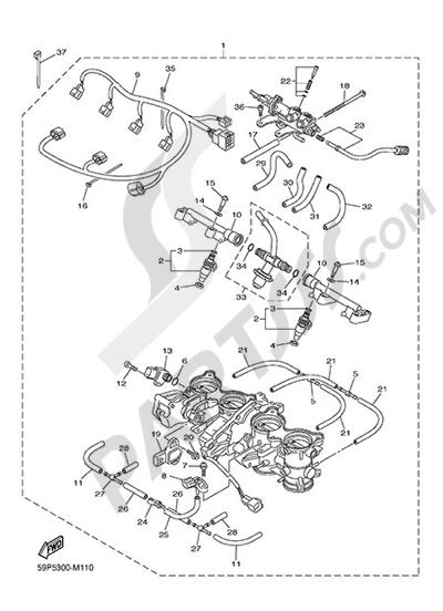 Moteur de recherche des pièces de rechange Yamaha :modèle
