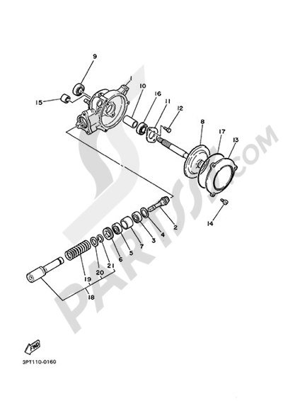 Yamaha PW50 2015. 分解図 純正部品をオンライン購入
