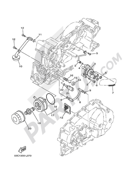 Yamaha T-Max 530 ABS 2015 Dissassembly sheet. Purchase