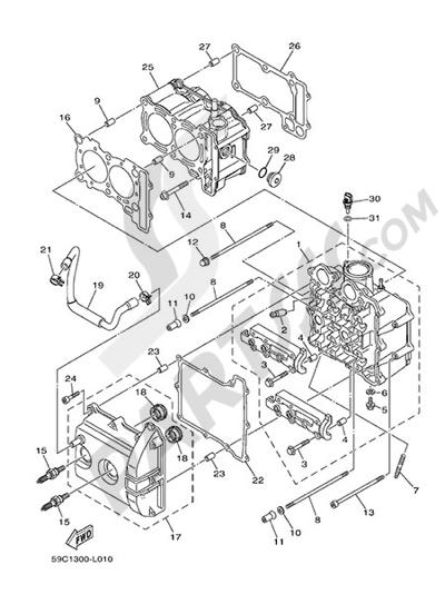 Yamaha T-Max 530 ABS 2014 Dissassembly sheet. Purchase