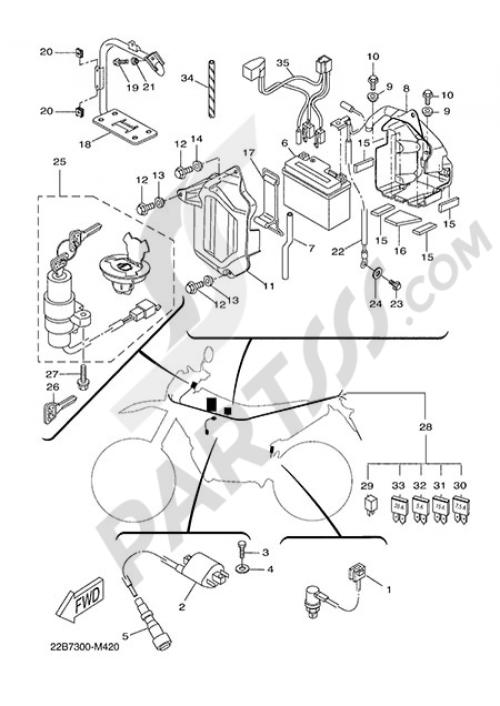 small resolution of electric equipment 1 yamaha wr125x 2014 lowe wiring diagram yamaha wr125x wiring diagram