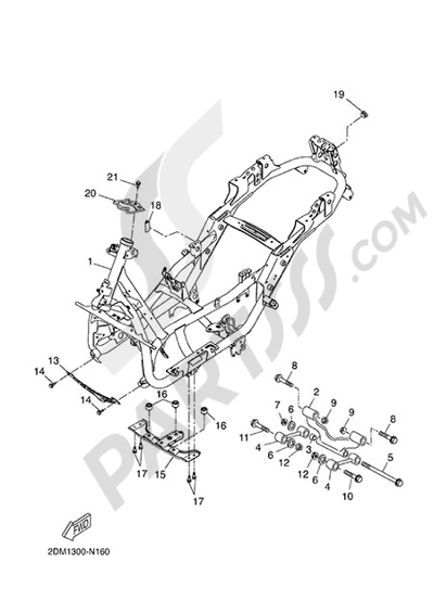 Yamaha X-Max 125 ABS 2014 Dissassembly sheet. Purchase