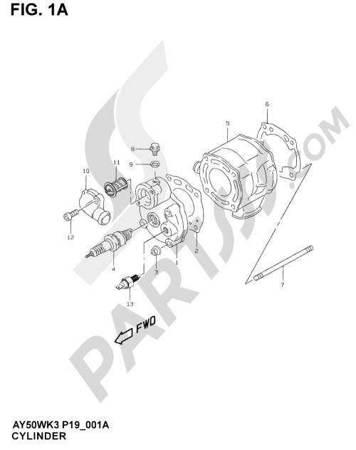 small resolution of suzuki motorcycle ay50 ay50 y motor transmision 1a cylinder model ay50wr k1 1000 png
