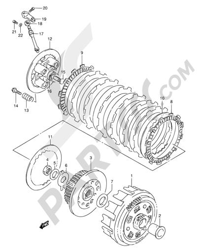 Suzuki DR800S 1997. 分解図 純正部品をオンライン購入