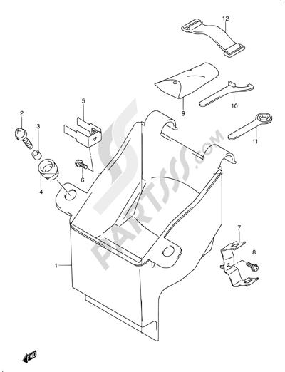 Suzuki BANDIT GSF1200 2004. 分解図 純正部品をオンライン購入