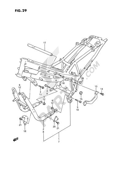 Suzuki GSX1100F 1991. 分解図 純正部品をオンライン購入