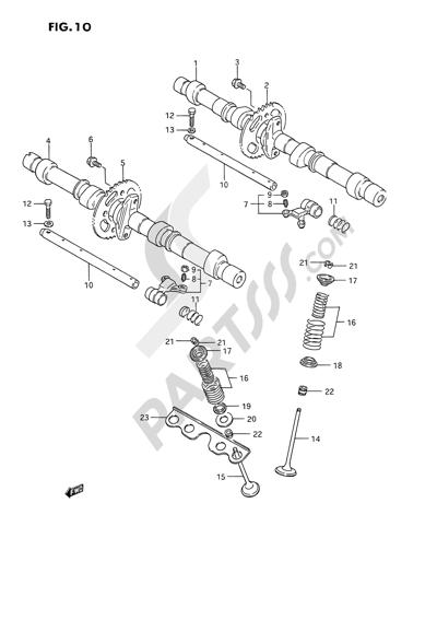Suzuki GSX1100F 1994. 分解図 純正部品をオンライン購入