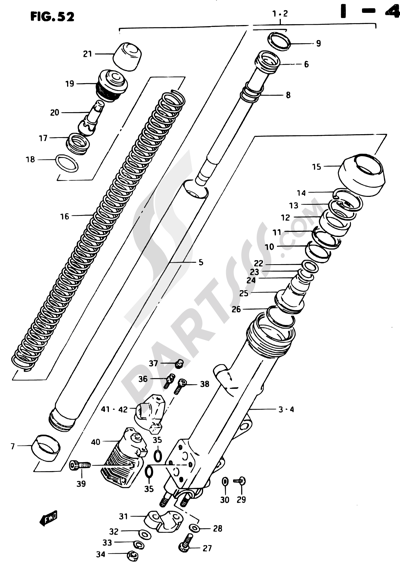 Suzuki GSX750ES 1984 Dissassembly sheet. Purchase genuine