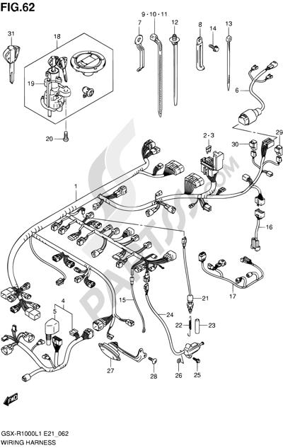 Suzuki GSX-R1000 2011 Dissassembly sheet. Purchase genuine