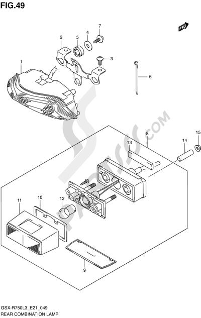 Suzuki GSX-R750 2013. 分解図 純正部品をオンライン購入