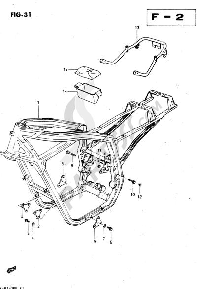 Suzuki GSX-R750R 1986. 分解図 純正部品をオンライン購入