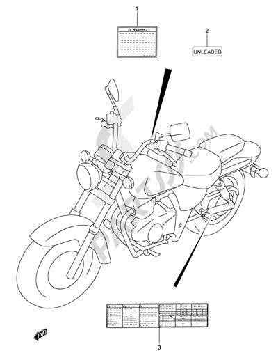 Suzuki MARAUDER GZ125 2002 Dissassembly sheet. Purchase