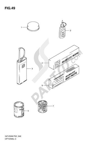 Suzuki MARAUDER GZ125 2009. 分解図 純正部品をオンライン購入