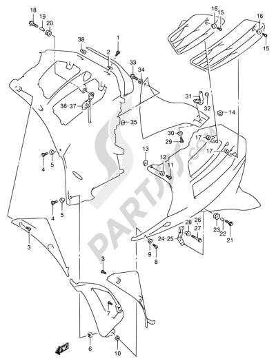Suzuki RF900R 1994. 分解図 純正部品をオンライン購入