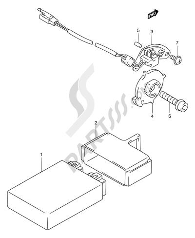 Suzuki RF900R 1998. 分解図 純正部品をオンライン購入