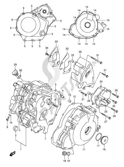 Suzuki SV1000S 2003. 分解図 純正部品をオンライン購入