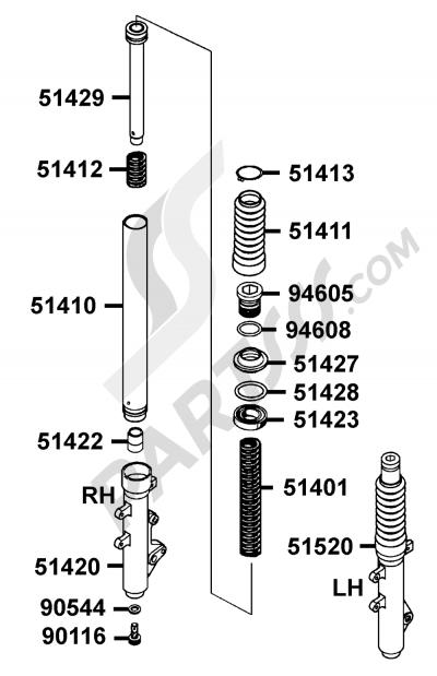 Sezionamenti di ricambi Kymco MOVIE-XL-125 SN25AB. Compra