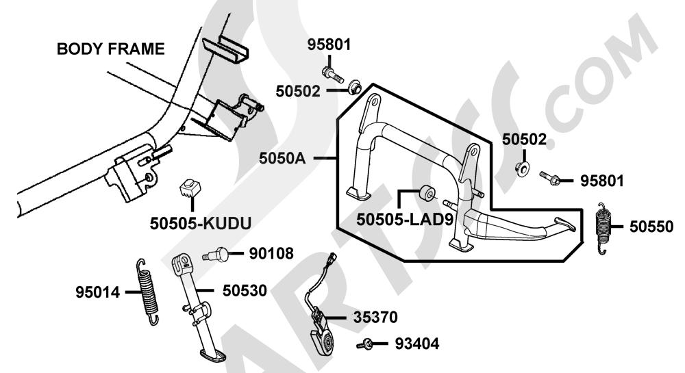 00105 Kymco XCITING-250 SA50AB