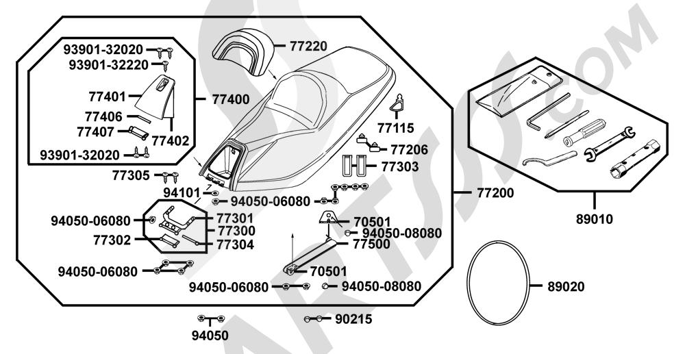 00087 Kymco XCITING-250 SA50AB