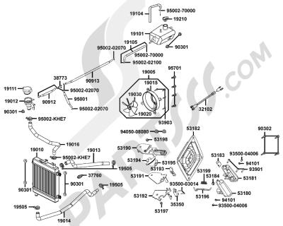 Sezionamenti di ricambi Kymco XCITING-500 SBA0AG. Compra