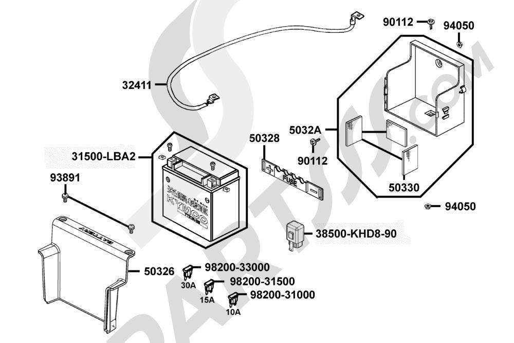 00103 Kymco XCITING-500 SBA0BB