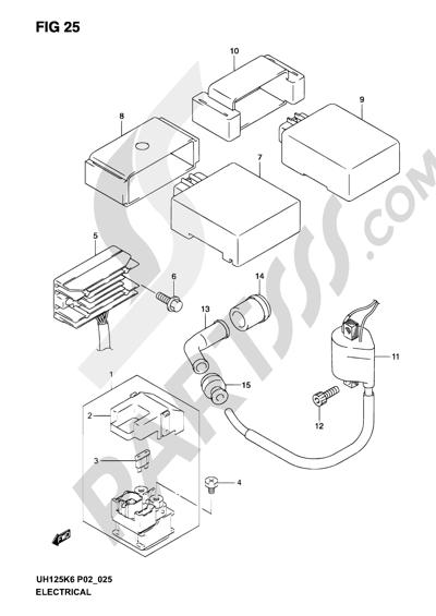 Suzuki BURGMAN UH125 2005 Dissassembly sheet. Purchase