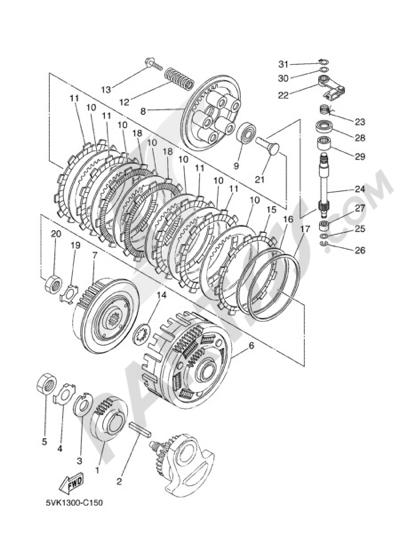 Sezionamenti di ricambi Yamaha MT-03 2006. Compra on-line