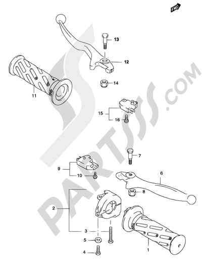 Suzuki KATANA AY50 2004 Dissassembly sheet. Purchase