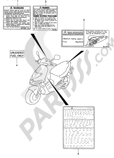 Suzuki KATANA AY50WR 2001 Dissassembly sheet. Purchase