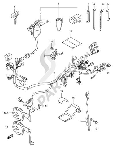Z400 Wiring Harnes : Suzuki LT Z400 Z 400 Wiring Harness