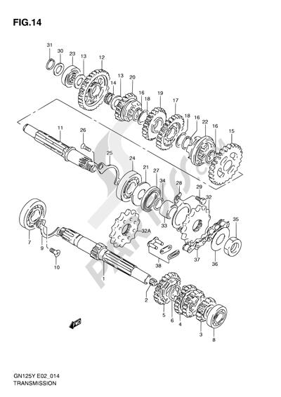 Suzuki GN125 2001. 分解図 純正部品をオンライン購入