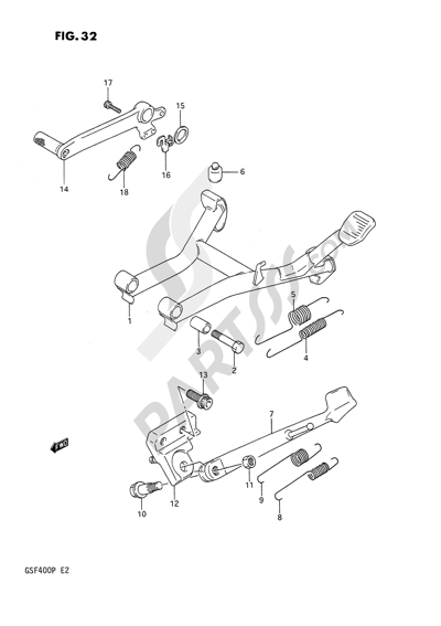 Suzuki BANDIT GSF400 1993. 分解図 純正部品をオンライン購入