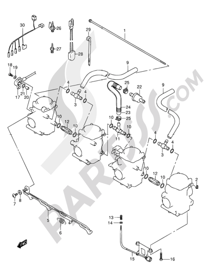 Suzuki BANDIT GSF600 2001 Dissassembly sheet. Purchase