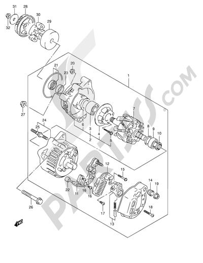 Suzuki BANDIT GSF600 2002 Dissassembly sheet. Purchase