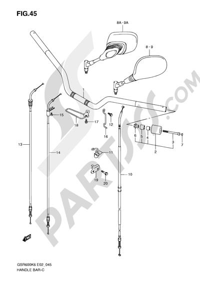 Sezionamenti di ricambi Suzuki GSR600 2008. Compra on-line