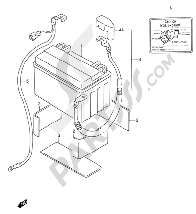 Suzuki RF600R 1996. 分解図 純正部品をオンライン購入