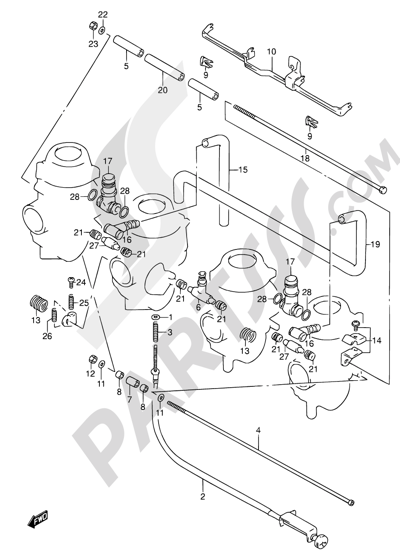 Suzuki RF600R 1997. 分解図 純正部品をオンライン購入