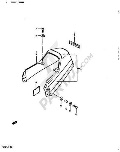 Suzuki RG125A 1988. 分解図 純正部品をオンライン購入