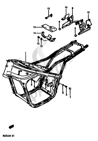 Suzuki RG500C 1987. 分解図 純正部品をオンライン購入