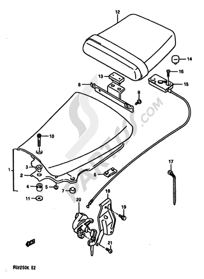 Suzuki RGV250 1989. 分解図 純正部品をオンライン購入