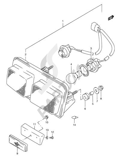 Suzuki RGV250 1996. 分解図 純正部品をオンライン購入