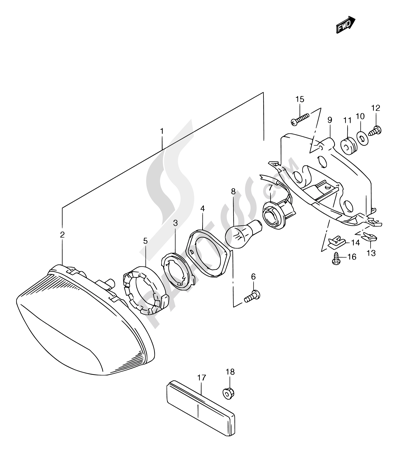 Suzuki RGV250 1997. 分解図 純正部品をオンライン購入