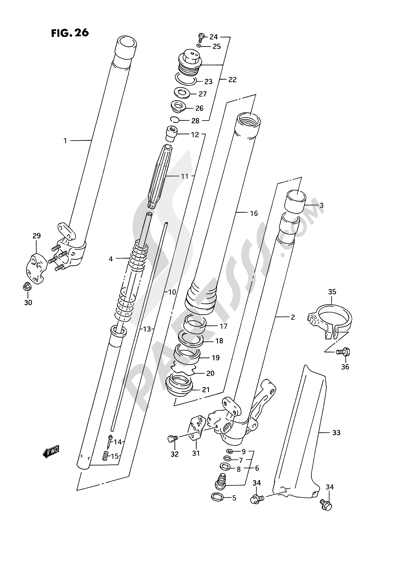 Suzuki RMX250R 1993. 分解図 純正部品をオンライン購入