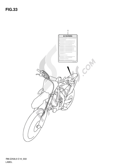 Suzuki RM-Z250 2010. 分解図 純正部品をオンライン購入