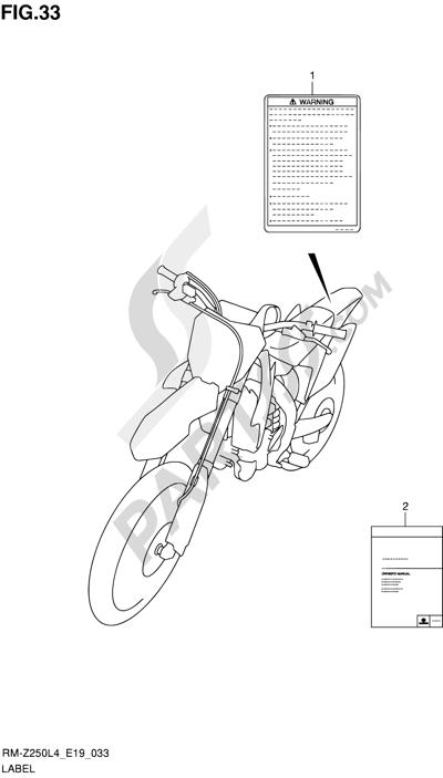 Suzuki RM-Z250 2014. 分解図 純正部品をオンライン購入